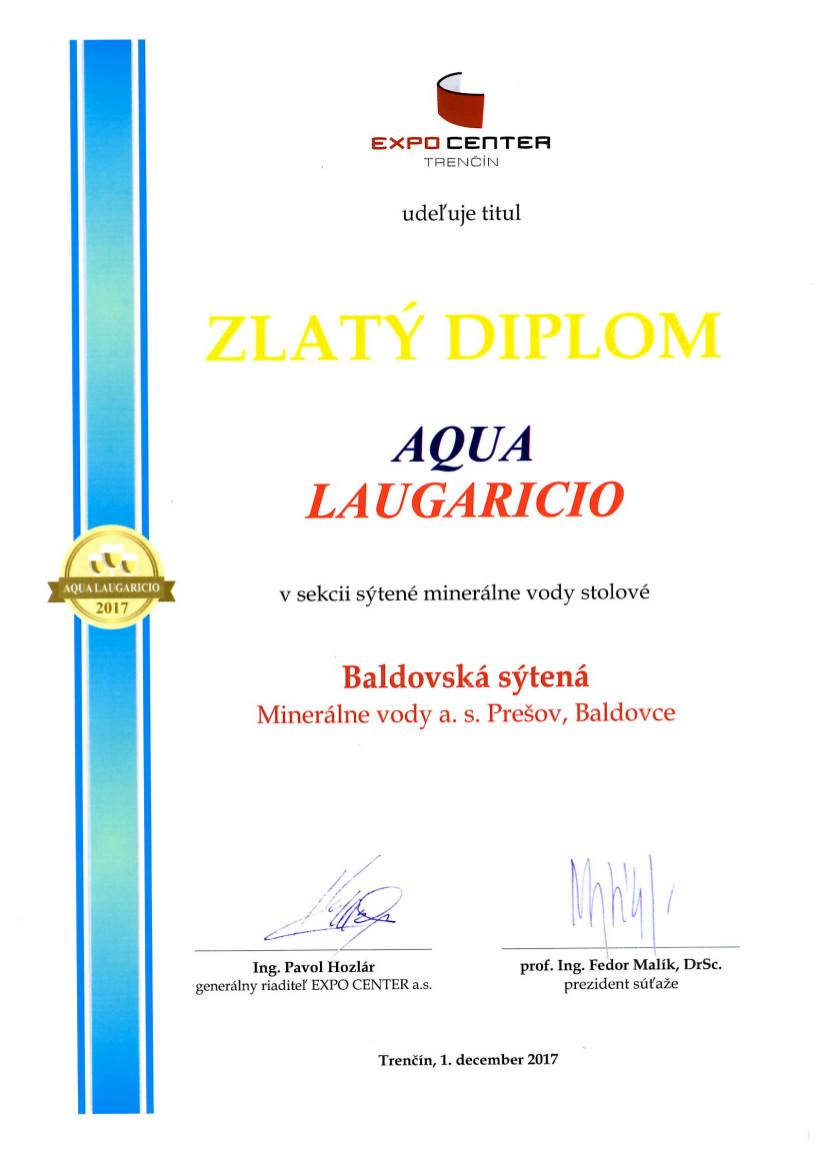 Zlatý diplom - Baldovská sýtená